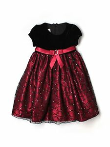 Toddler Girl Cinderella Brand Red Velour Floral Holiday Portrait Dress Size 2T   eBay