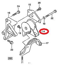 NEW Genuine Suzuki SWIFT 2005-2010 DIESEL Rear Engine