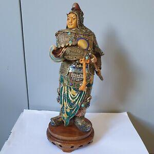 large chinese enamel silver Enameled Warrior
