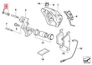 Genuine BMW E60 E61 Front Brake Caliper Guide Bush Repair