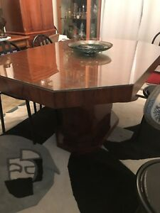 details sur table de salle a manger art deco 1930 150x100