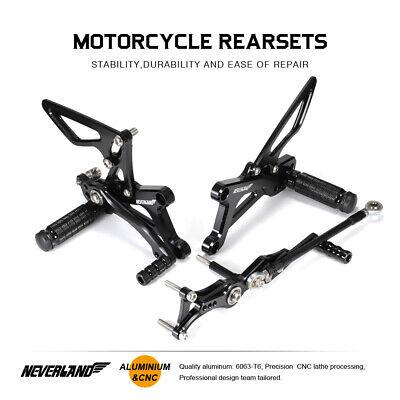 Black Rearset Foot Pegs Rear Set For Triumph DAYTONA 675