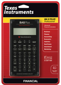 Texas Instruments Ba Ii Plus : texas, instruments, Texas, Instruments, Professional, Financial, Calculator, 33317192045