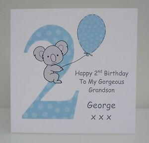 Personalised Boys 2nd Birthday Card Son Grandson Nephew