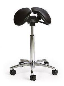 salli saddle chair hickory nightstand ergonomic divided leather stool tilt model ebay image is loading