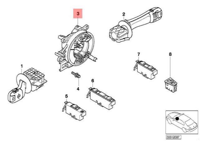 Genuine BMW E38 E39 E46 E53 Steering Wheel Switch Assembly