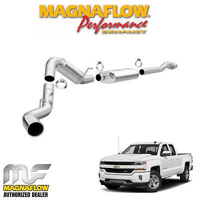magnaflow 4 cat back exhaust 2014 2018 chevy silverado 1500 6 2l crew 5 7 bed ebay