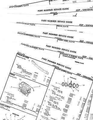 THRU 1972 JEEP CJ5 CJ5A CJ6 CJ6A UNIVERSAL BODY PARTS