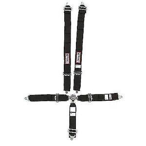 RJS Safety 1032501 Bolt-On 5 Point Cam Lock Harness (Black