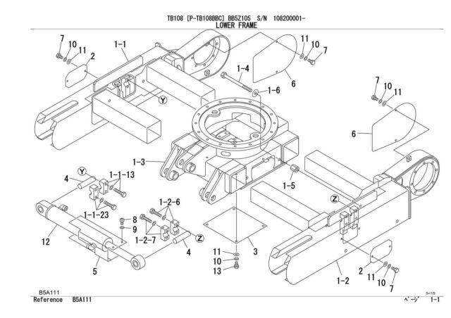 New Takeuchi TB108 Mini Digger Excavator Parts Manual for