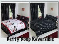 BETTY BOOP BEDROOM REVERSIBLE BEDDING DUVET QUILT COVER ...