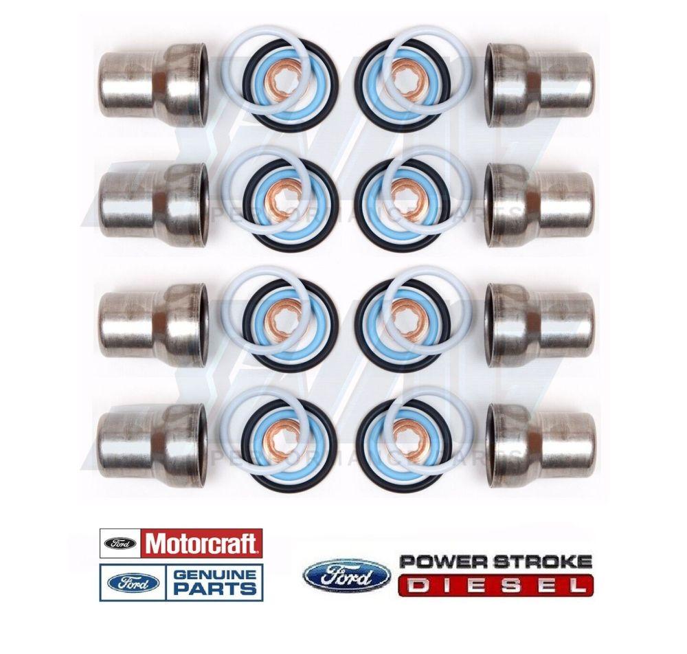 medium resolution of 03 10 ford 6 0 6 0l powerstroke diesel oem fuel injector sleeves o
