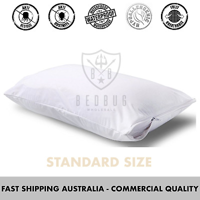 2 x pillow cover and protector dust mite allergies bed bug standard size ebay