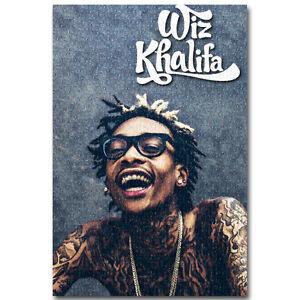 details about wiz khalifa hot music rapper silk poster 13x20 24x36 inch 021