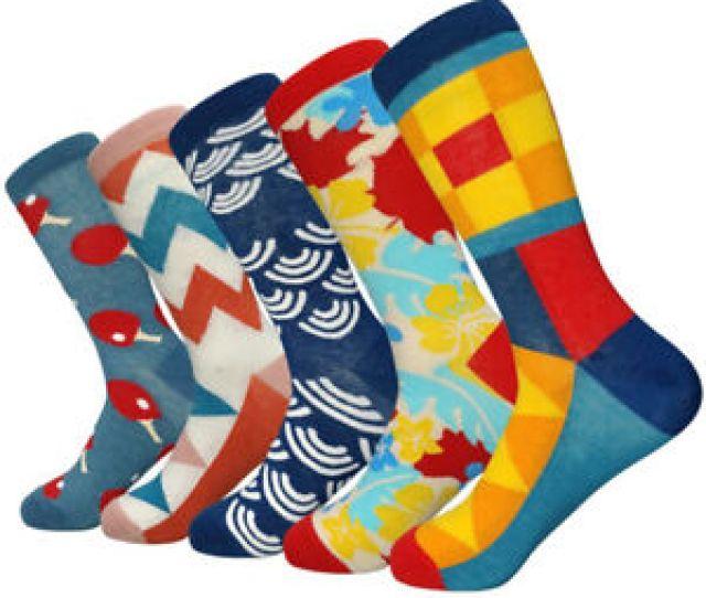 Image Is Loading Fashion Mens Cotton Socks Fancy Colorful Design Novelty