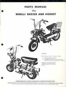 BENELLI BUZZARD & HORNET 50cc PARTS MANUAL / COMOPOLITAN