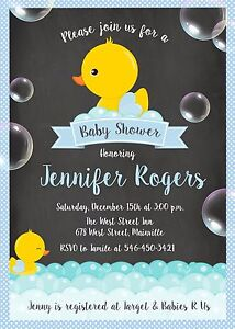 Baby Shower Invitations With Ducks
