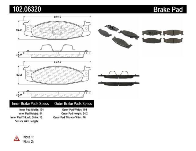 Disc Brake Pad Set fits 1994-2003 Ford E-150 Econoline,E