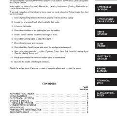 bobcat 641 642 643 skid steer loaders 1986 rev service manual 6566135 ebay [ 1000 x 1294 Pixel ]