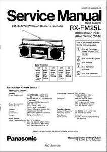 Panasonic rx-fm25l RX fm25l-BOOMBOX-Service Manual-Repair