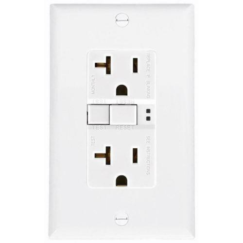 small resolution of  eaton white 20 amp decorator outlet with wallplate gfci residential sgf20w l for sale online