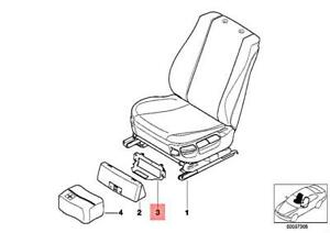 Genuine BMW Front Seat First Aid Box Bracket OEM 530i 540i