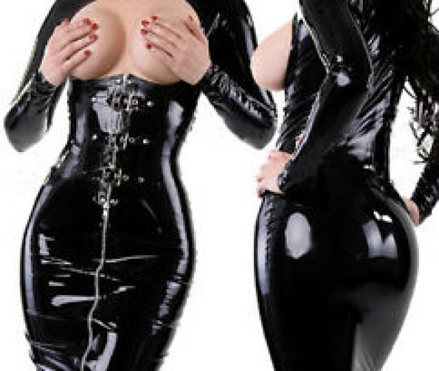 Image Is Loading Sexy Pvc Look Black Faux Leather Gothic Fetish