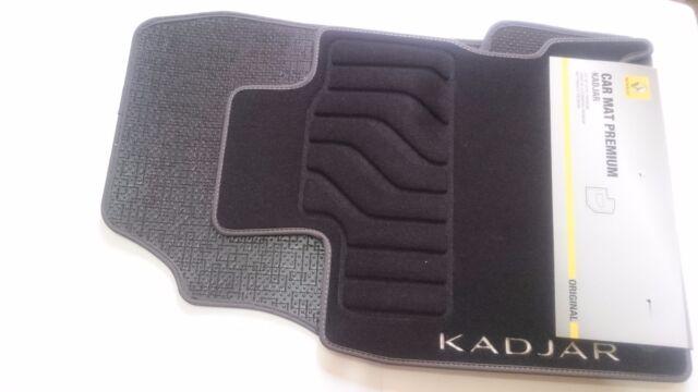 jeu 4 tapis de sol textile avant arriere original renault kadjar 8201569371