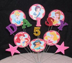 Disney Princess Birthday Cake Topper Decoration 3rd 4th 5th 6th 7th