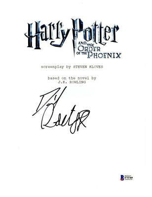 DANIEL RADCLIFFE SIGNED HARRY POTTER AND THE ORDER OF THE