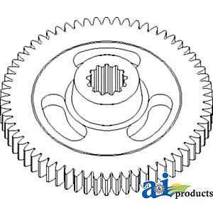 John Deere Parts GEAR IMPELLER; 54T SPLD. E84814 936