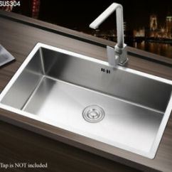 Buy Undermount Kitchen Sink 18 Inch Deep Cabinets Square Large Handmade Single Bowl Stainless Steel Image Is Loading
