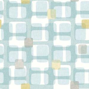 details sur arthouse bleu sarcelle gris jaune retro bloc motif papier peint vintage geometrique luxe afficher le titre d origine