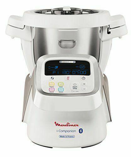 moulinex i companion hf806e10 1550w 4 5 l robot cuiseur blanc