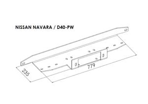 Montageplatte für Seilwinde Seilwindenplatte für NISSAN