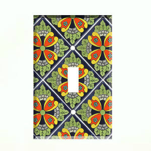 details about talavera tile light switch plate wall cover mexico wall plate