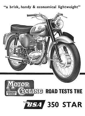 BSA Brochure B40 Star 1960 1961 1962 1963 Motorcycle Sales