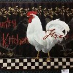 Rooster Kitchen Rug Ceiling Lights Ohio Wholesale Country Hen 884969260060 Ebay Item 8 Printed Nylon Nonskid Back 18 X30 D Shape Cat