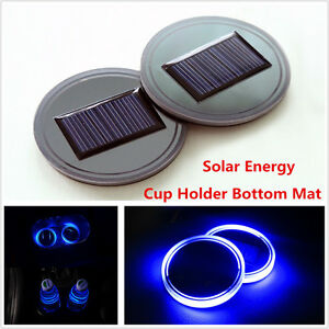 Pack of 1 Solar Energy LED Car Cup Holder Bottom Pad Mat Interior Lights Fitment Trim for BMW X1 X3 X4 X5 X6 Z4 3 Series 5 Series 4 Series 328i 7 Series 6 Series i3 gt 1 Series 2 Series Accessories