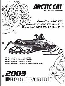 2009 ARCTIC CAT SNOWMOBILE CROSSFIRE 1000 EFI PARTS MANUAL