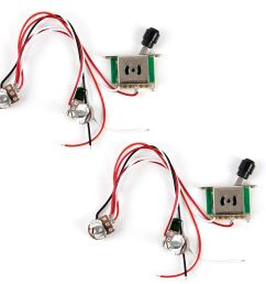 2pcs prewired guitar wiring harness 250k pots 3 way switch for tele parts [ 1200 x 1200 Pixel ]