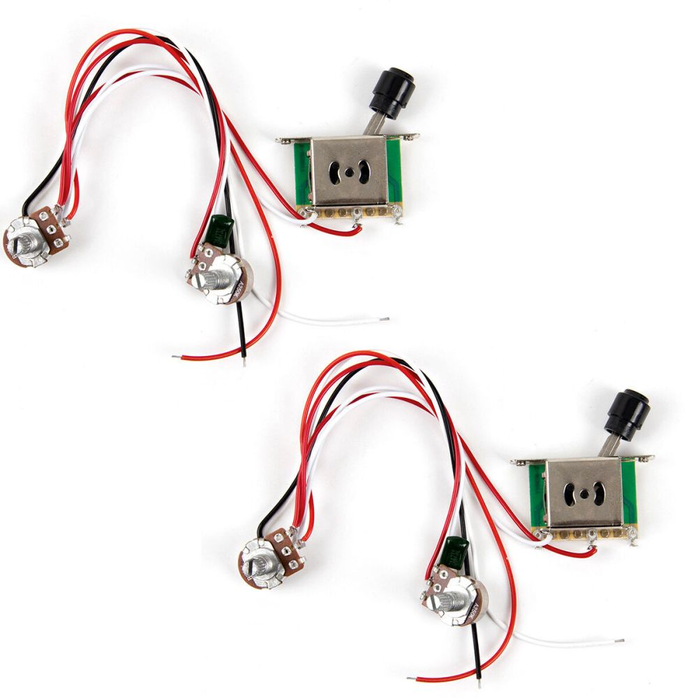 medium resolution of 2pcs prewired guitar wiring harness 250k pots 3 way switch for tele parts