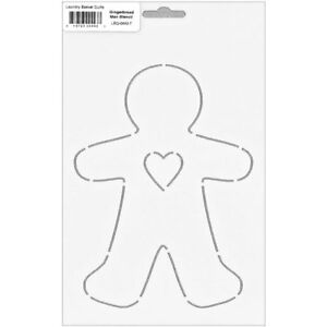 Stencil ~ GINGERBREAD MAN ~ Laundry Basket Quilts