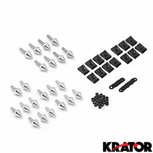 New Silver Spike Fairing Bolts Washers Kit For Yamaha YZF