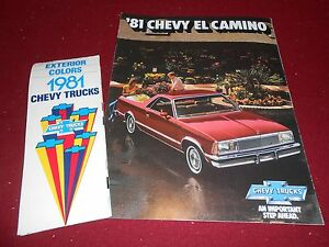 1981 CHEVY EL CAMINO PICKUP TRUCK CATALOG  CHEVROLET