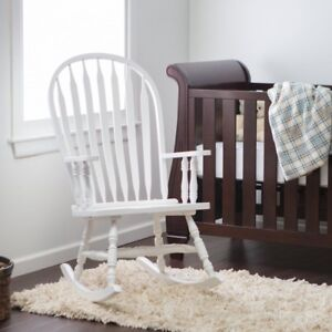 wooden rocking chairs nursery plastic cafe johannesburg indoor chair white baby living room rocker image is loading