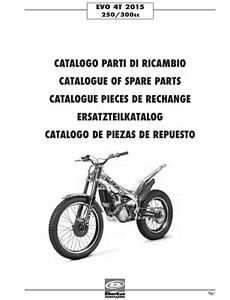 Beta Parts Manual Book Chassis & Engine 2015 EVO 4T 250
