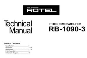 Marantz rb-1090-3 Schematic Diagram Service Manual
