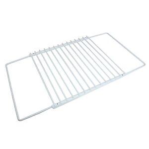 Adjustable Extendable Universal Fridge Shelf White Plastic