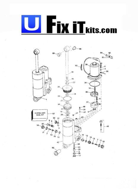 Evinrude Johnson Trim Tilt Rebuild Kit 25 35 40 48 50 HP